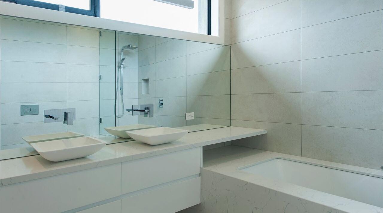 Bathroom work 2 vivid edge design for Two bathroom
